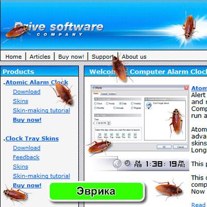 Тараканы бегают по Рабочему столу экрана монитора - отличный веселый скринмэйт