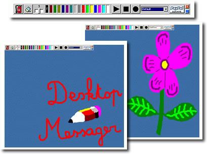 рисуем по рабочему столу, делаем из этого видеоролик и отправляем другу