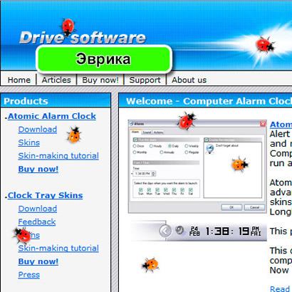 Божьи коровки бегают по всему рабочему столу экрана монитора - программа прикол