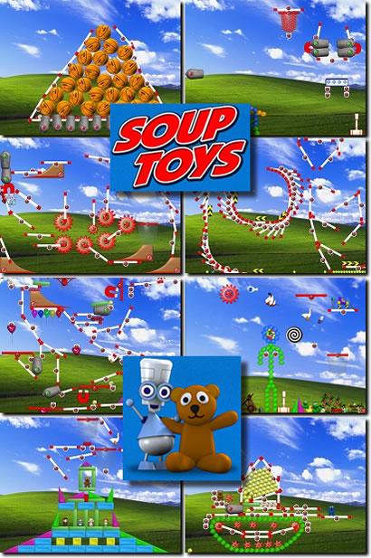 варианты размещения игрушек на Рабочем столе, скриншоты